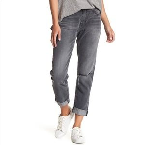 Current/Elliott sz29 The Fling Blvd Knee Slit gray